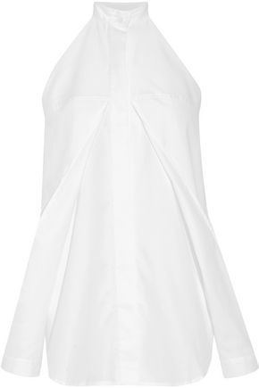 DION LEE Cutout cotton-poplin top