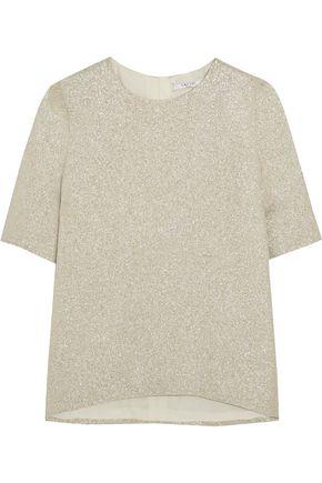 LANVIN Silk-blend lamé top