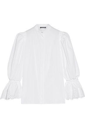 ALEXANDER MCQUEEN Broderie anglaise-trimmed cotton-poplin shirt