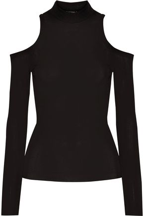 BALMAIN Cutout jersey top