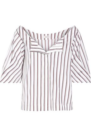 ISA ARFEN Striped cotton-poplin top
