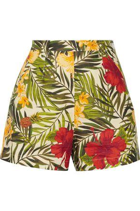 MIGUELINA Joone printed linen shorts