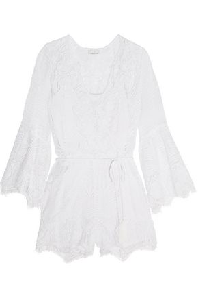 MIGUELINA Genie crocheted cotton playsuit