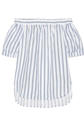 MICHAEL MICHAEL KORS Off-the-shoulder striped linen top