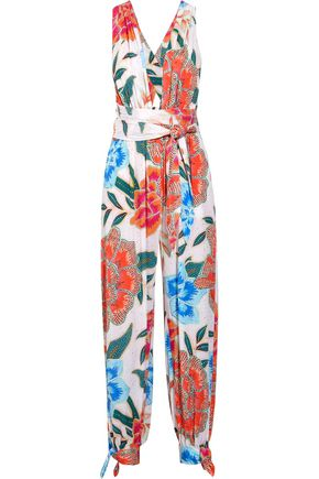 MARA HOFFMAN Arcadia printed plissé-crepe jumpsuit