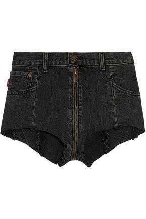 VETEMENTS + Levi's distressed denim shorts