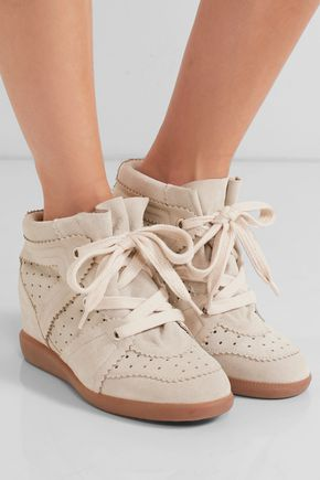 86323fb1261 Étoile Bobby suede wedge sneakers | ISABEL MARANT | Sale up to 70 ...