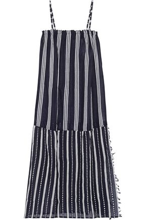 LEMLEM Edna striped cotton-gauze maxi dress