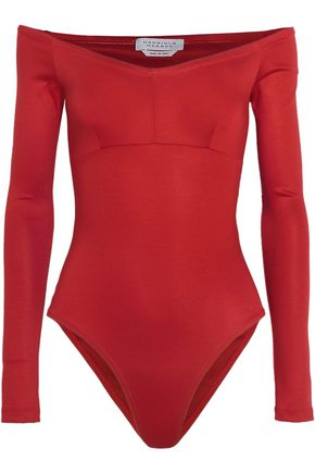 GABRIELA HEARST Hobbs off-the-shoulder stretch-ponte bodysuit