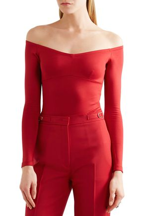 GABRIELA HEARST Hobbs off-the-shoulder stretch-ponte bodysuit