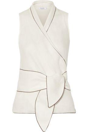 MAX MARA Linen wrap top
