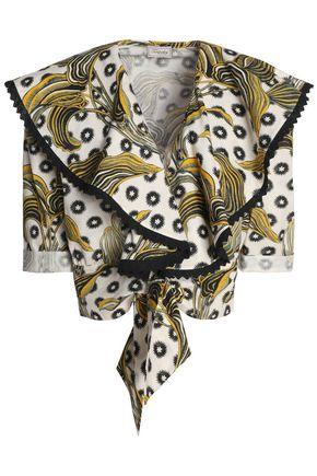 TEMPERLEY LONDON Florrie printed cotton top