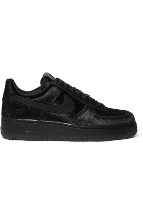 NIKE Air Force 1 calf hair sneakers