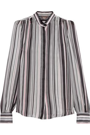 GIAMBATTISTA VALLI Striped silk-georgette blouse