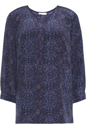 JOIE Printed silk top