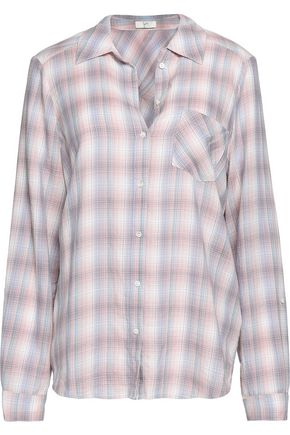 JOIE Jerrie checked cotton shirt