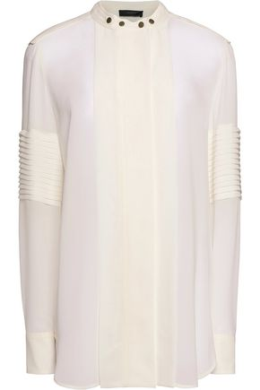 BELSTAFF Holliwell paneled silk-chiffon blouse
