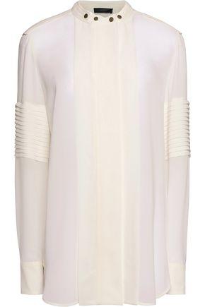 BELSTAFF Holliwell paneled silk-chiffon blouse