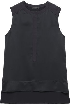 BELSTAFF Carlisle cotton-trimmed satin top