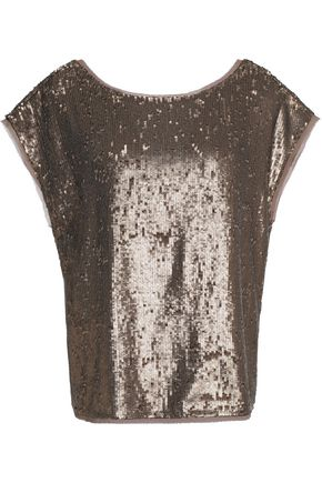 JOIE Marania sequined georgette top