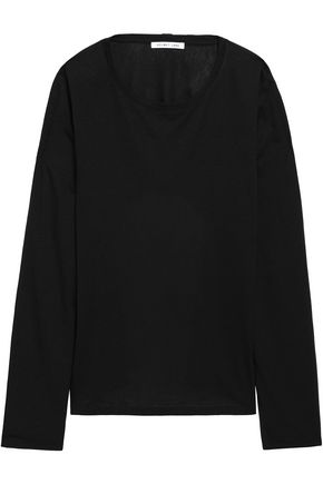 HELMUT LANG Open-back modal and cotton-blend top