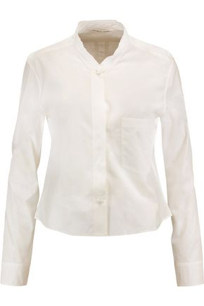 HELMUT LANG Cropped cotton-poplin shirt
