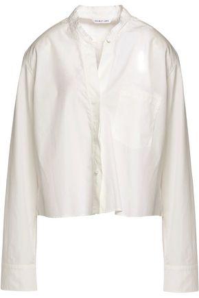 HELMUT LANG Cropped cotton-poplin shirt