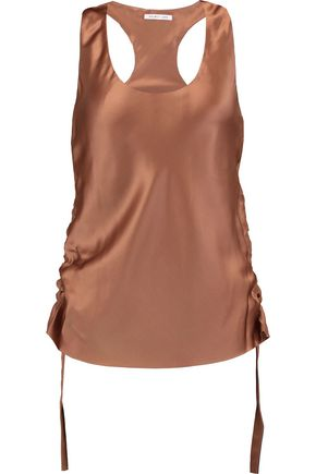 HELMUT LANG Ruched silk-satin top