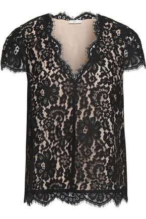 JOIE Guipure lace top
