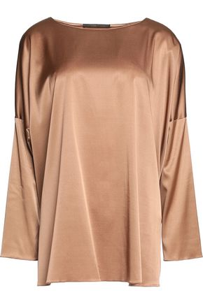 AGNONA Oversized stretch-silk top