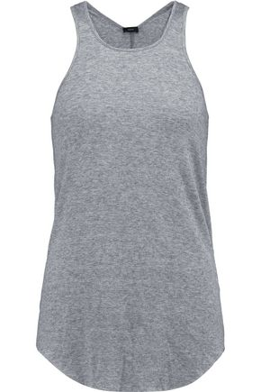JOSEPH Ribbed cotton and cashmere-blend tank