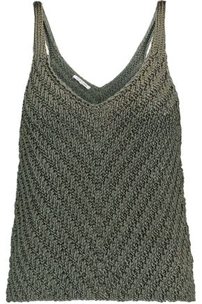 HELMUT LANG Knitted silk tank