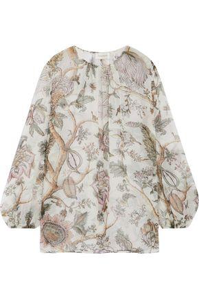 ZIMMERMANN Karmic printed silk blouse