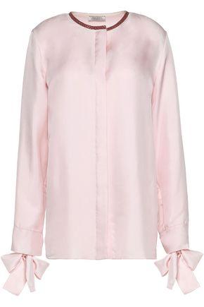 NINA RICCI Silk-twill shirt
