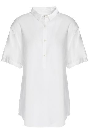 CURRENT/ELLIOTT Cotton-poplin shirt