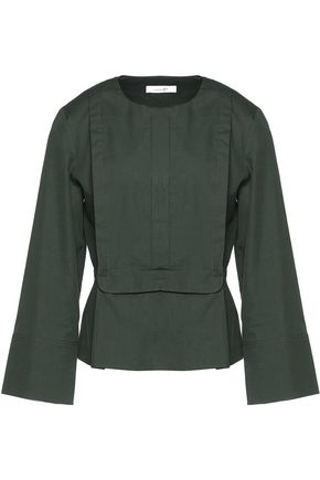 CARVEN Cotton-poplin blouse
