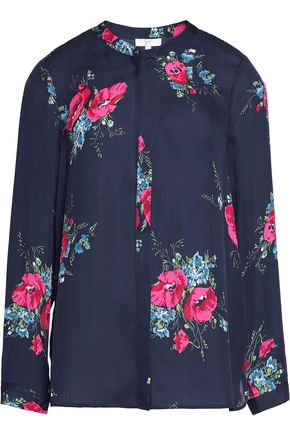 JOIE Devitri printed washed-silk blouse