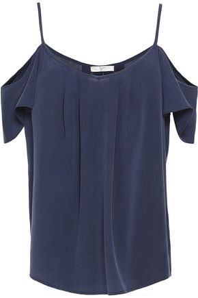 JOIE Adorlee cold-shoulder ruffled silk top
