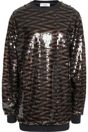CARVEN Sequined knitted top