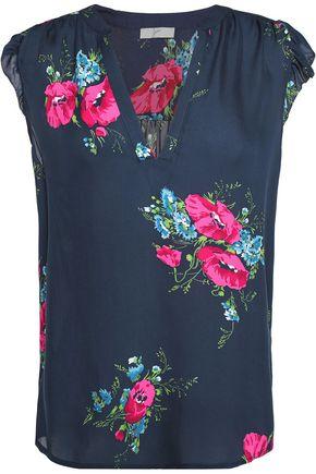 JOIE Mirabelle floral-print silk crepe de chine top