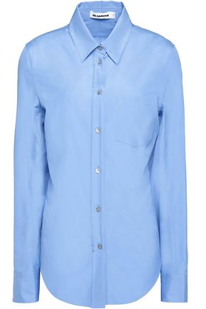 JIL SANDER Villelmina cotton-poplin shirt