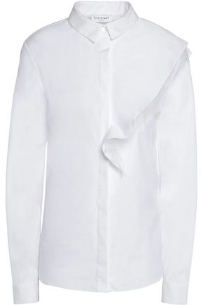 VIONNET Cotton-blend poplin shirt