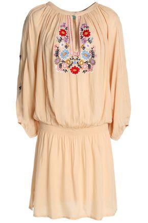 MELISSA ODABASH Nadja embroidered voile mini dress