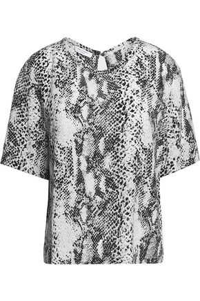 EQUIPMENT Brynn snake-print washed-silk top