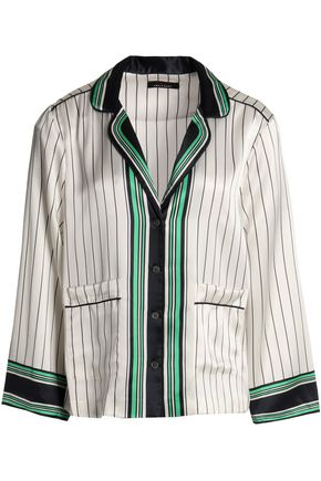 KATE MOSS EQUIPMENT Striped silk top