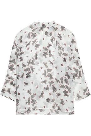 JUST CAVALLI Printed gauze blouse