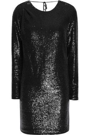 VIONNET Open-back sequined chiffon top
