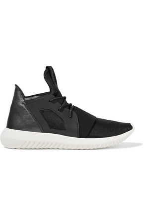 ADIDAS ORIGINALS Tubular Defiant neoprene and metallic leather sneakers