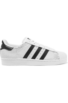 ADIDAS ORIGINALS Superstar scored leather sneakers