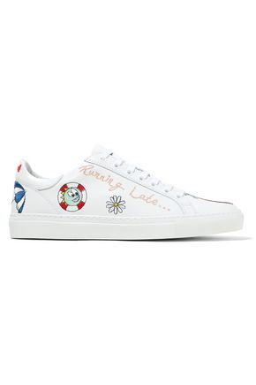 MIRA MIKATI Embroidered leather sneakers